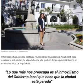 """""""INFORMADOS.ES"""": Entrevista a Ana Elliott, portavoz del Grupo Municipal Ciudadanos"""